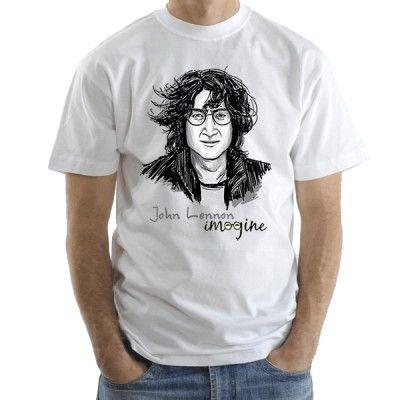 John Lennon мъжка тениска Stedman с къс ръкав