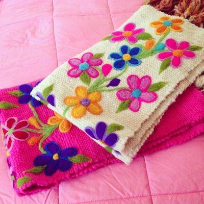 Pieceras Flores - Tejidos a Telar Marie etchevers