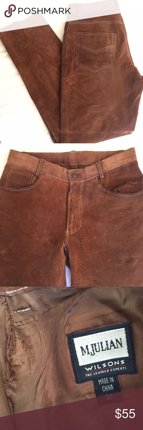Glory hole brown leather pants