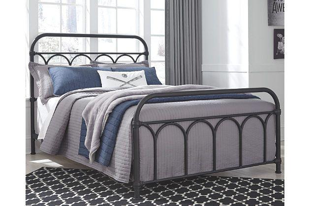 249 Ashley Furniture Nashburg Full Metal Bed In 2019 Metal Beds