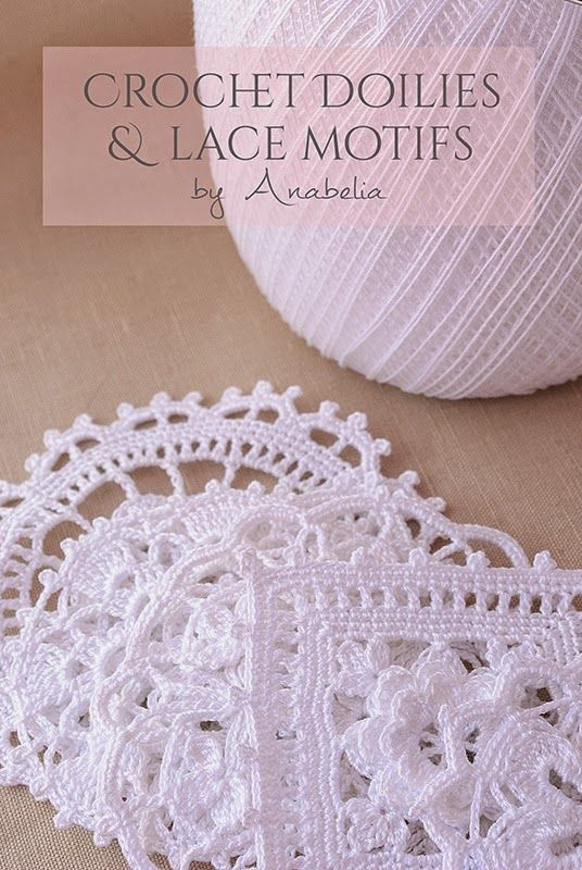 Crochet doilies and lace motifs, charts