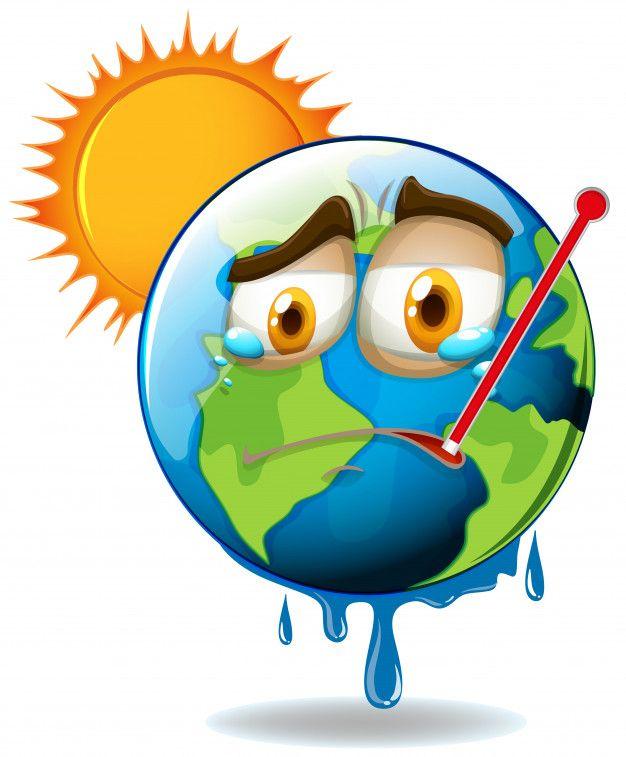 Calentamiento Global Con Tierra Derritie Free Vector Freepik Freevector Dibujos Animados Calentamiento Global Calentamiento Global Dibujos Dibujos