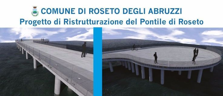 Roseto. Ecco il progetto del nuovo pontile a mare. /FOTO