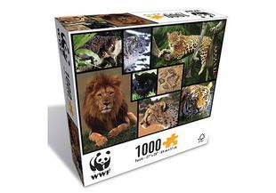 This amazing WWF Wild Cats 1000 Piece Puzzle by Merchant Ambassador guarantees sustainable entertainment for the whole family.