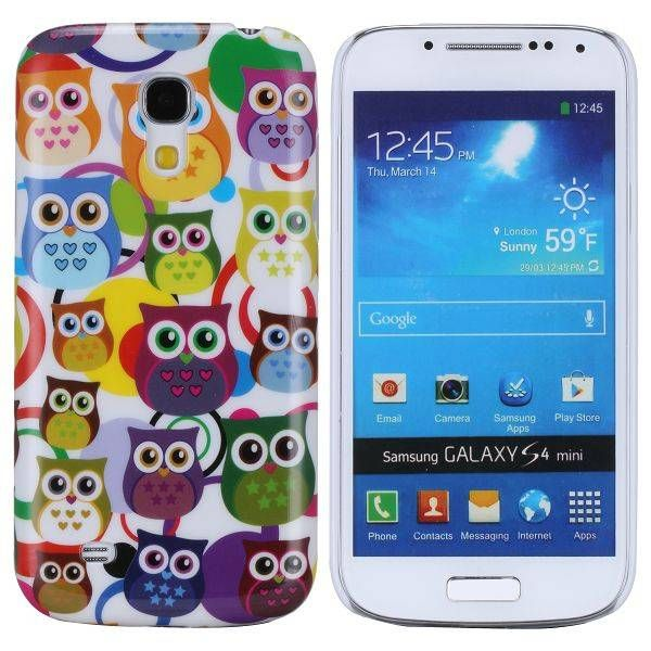 Kleurrijke uilen hoesje Samsung Galaxy S4 mini