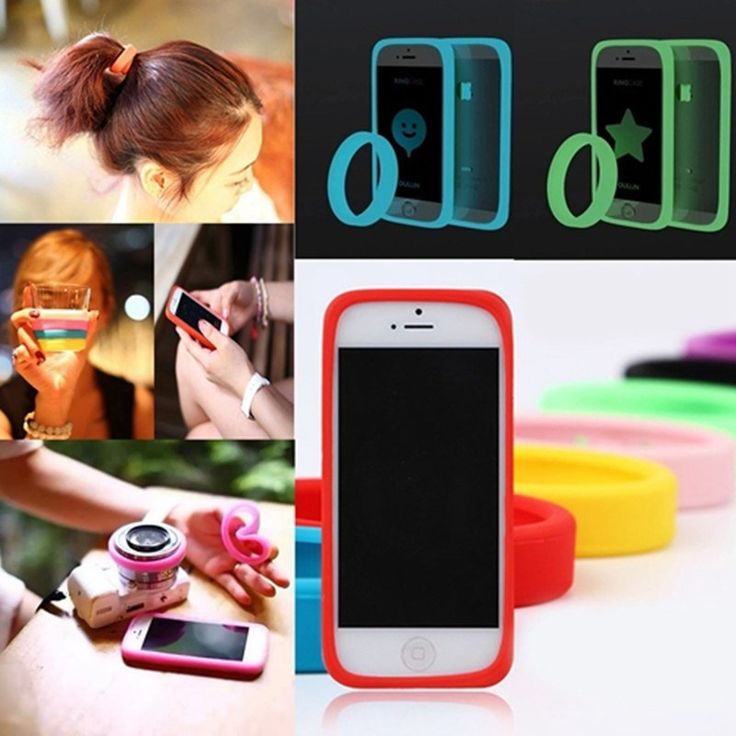 Candy Color Night Light round Wristband phone Case Universal Soft Bumper Case for Mobile Phone 4.0 ~ 5.0 inch bape ...