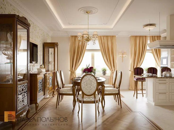 Фото: Кухня-столовая - Квартира в классическом стиле, ЖК «Привилегия», 135 кв.м.