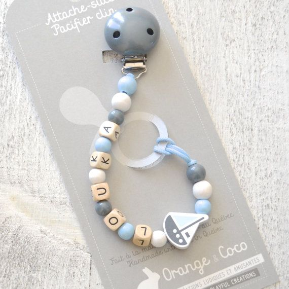 Pacifier clip beaded pacifier clip pacifier by orangeandcoco