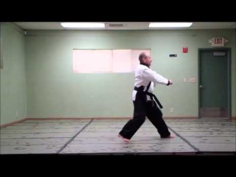 Tang Soo Do - KI CHO HYUNG IL BU - Basic Form # 1 - step by step - YouTube