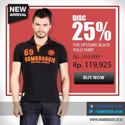 Polo shirt keren ini diskon 25%! Dapatkan koleksinya www.bombboogie.co.id