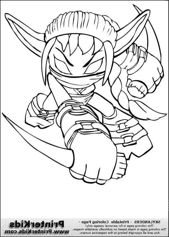The Most Awesome Attractive Skylanders Coloring Pages Stealth Elf