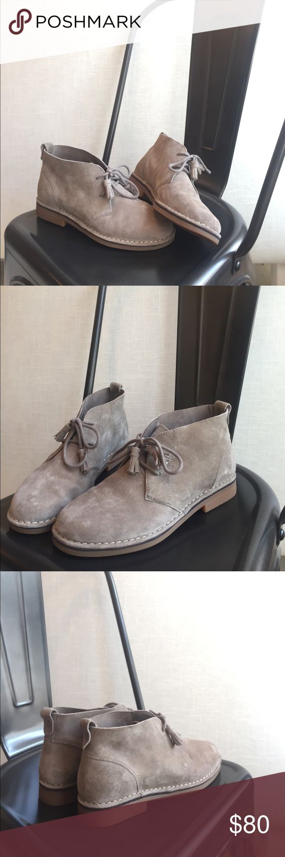 Hush Puppies Cyra Catelyn Taupe Suede Women's Hush Puppies Cyra Catelyn Taupe Suede shoes.  Like new condition! Only worn once. *With box*. Hush Puppies Shoes Ankle Boots & Booties