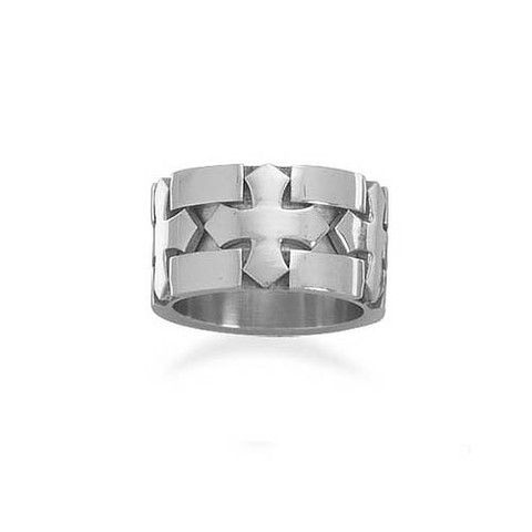 Men's Stainless Steel 3 Cross Design Ring – Tribal Native LA http://www.tribalnative.com/products/mens-stainless-steel-3-cross-design-ring