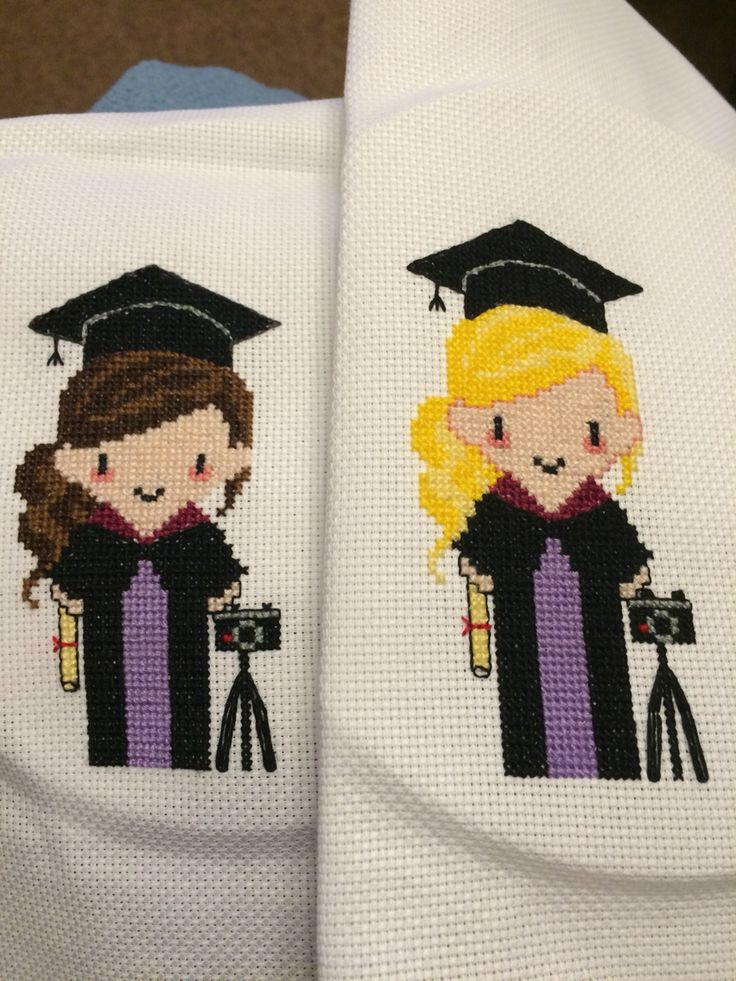 Graduation cross stitch for photography degree