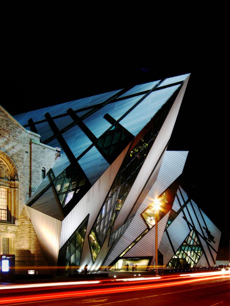 The Royal Ontario Museum (ROM), University of Toronto, Ontario, Canada. The Michael Lee-Chin Crystal was completed in 2007 and is designed by Daniel Libeskind.