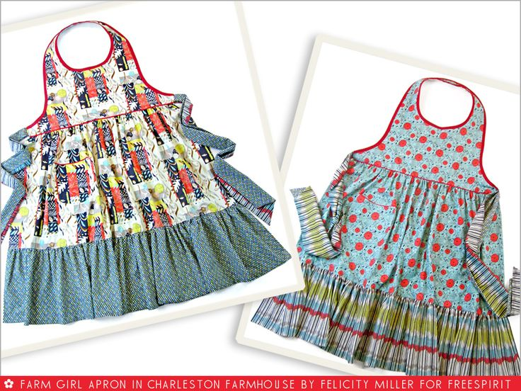 FreeSpirit-Rowan 10&10 Series: Farm Girl Reversible Apron in Felicity Miller/Charleston Farmhouse | Sew4Home