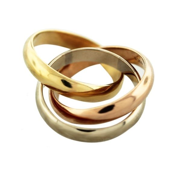 Cartier Infinity Bracelet: Cartier Tri Color Infinity Ring