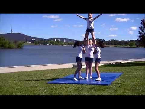 ▶ Cheer Chick Charlie - Video 18 - Level 1 Stunts using Teddy Bear sit - YouTube