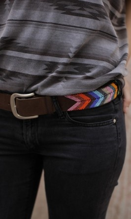 plümo leather & beaded belt made in Kenya