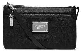 MICHAEL Michael Kors Jet Set Large Monogram Wristlet, Black