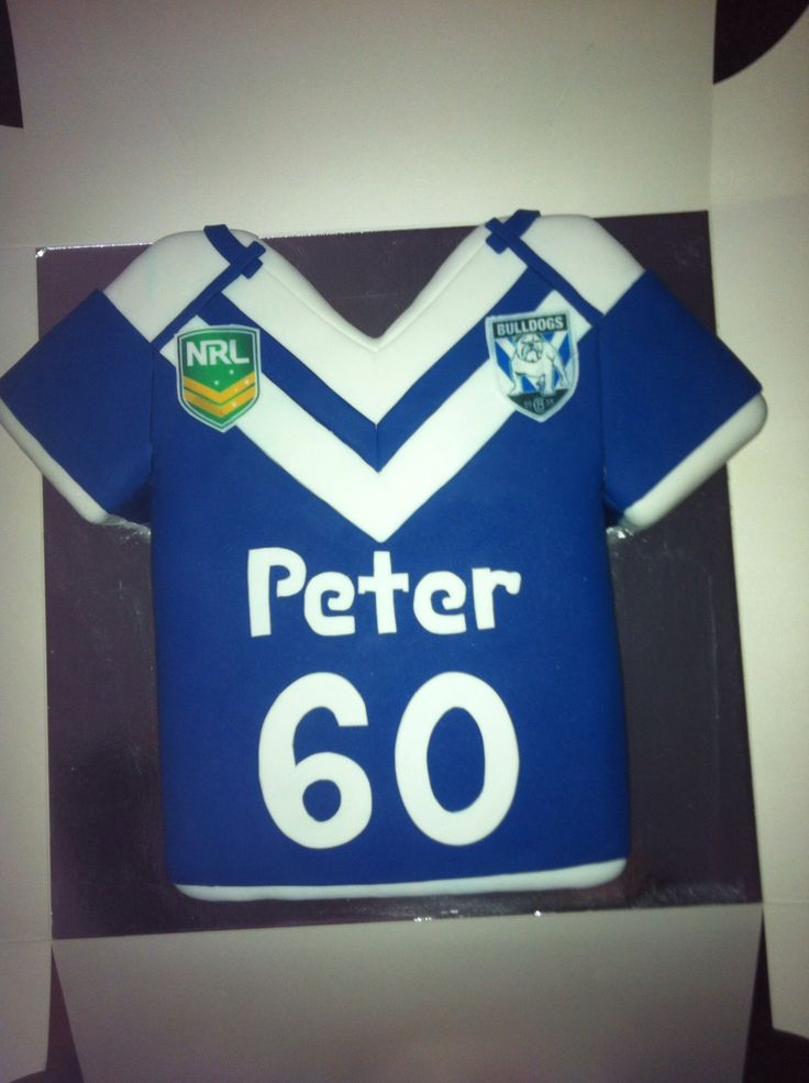 nrl bulldogs 60th birthday cake