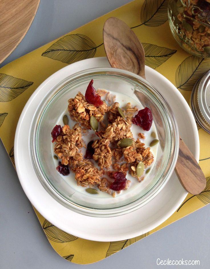 Je suis une inconditionnelle de la recette de base de granola que je vous ai déjà proposée - c'était ici-clic . Sa pointe de sel, son…