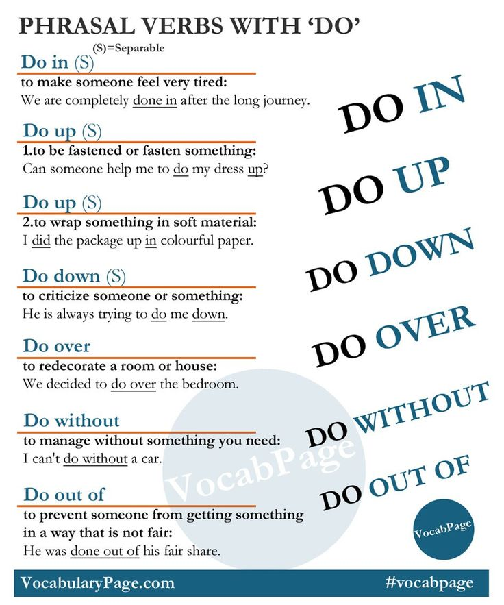 Phrasal Verbs with ' DO '