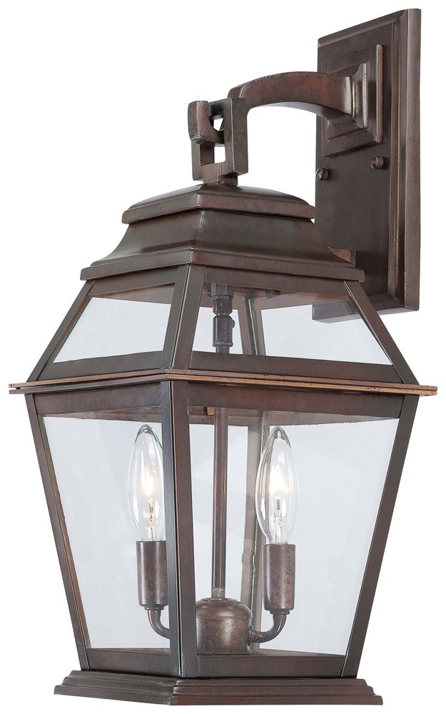 The Great Outdoors 2 Light Wall Mount Shown In Architectural Bronze
