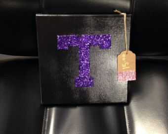Glitter Tarleton State University college canvas