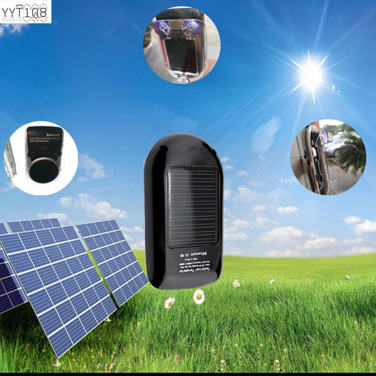 Wireless Solar Powered Bluetooth Car Kit Hands Free Speaker For iPhone Android #YYT108