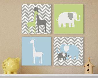 Giraffe Children's Wall Art Nursery Wall Art by FieldandFlower