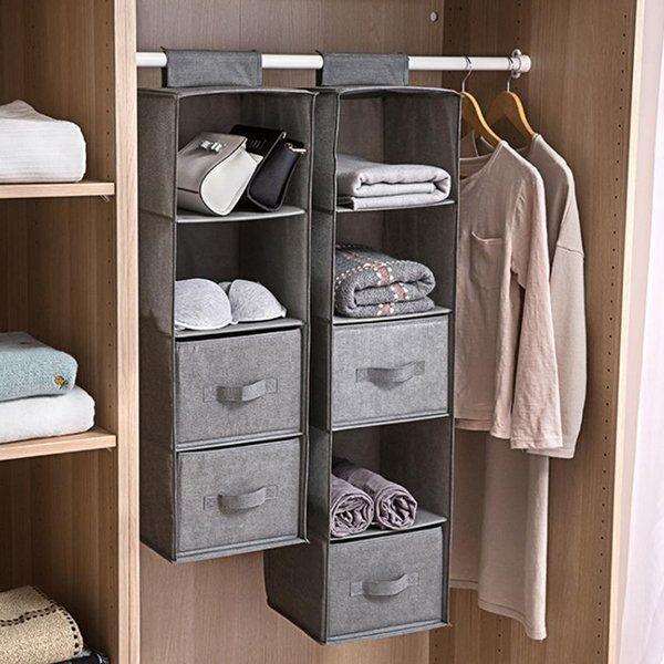 Wardrobe Hanging Storage Bag From Apollo Box Hanging Closet