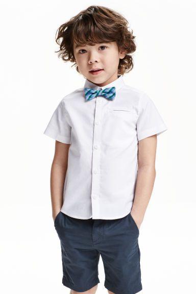 Short-sleeved cotton shirt   H&M