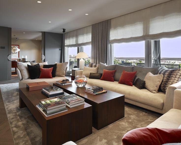 molins interiors arquitectura interior interiorismo decoracin saln sofs blancos - Interiorismo Salones
