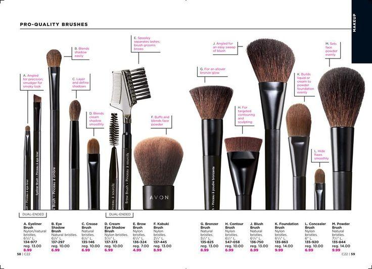1. Avon Pro Eyeliner Brush 2. Pro Eye Shadow Brush 3. Crease Brush 4. Cream Eye Shadow Brush 5. Brow Brush 6. Kabuki Brush 7. Bronzer Brush 8. Contour Brush 9. Blush Brush 10. Foundation Brush 11. Concealer Brush 12. Powder Brush #avon #makeupbrush #lipbalm #eyes  #flawless #lips #beauty #cosmetics #beautiful #projectrunway #makeup #instagram @avonrep_angel