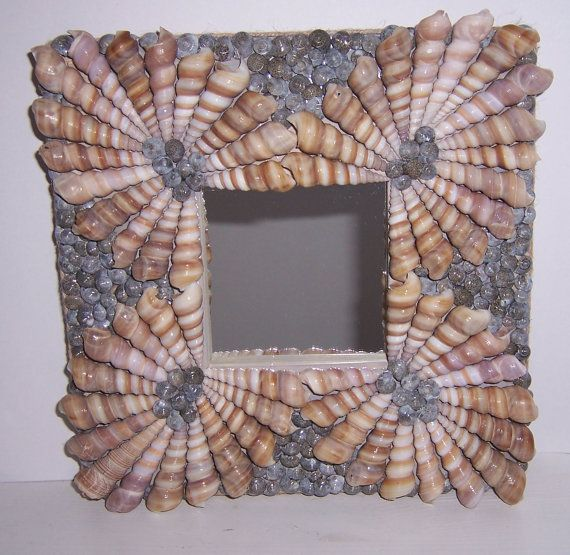 Shelled mirrors Turritella spiral shell mirrors by PaulaDsArt, $50.00