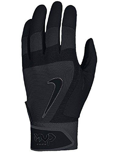 Nike Batting Gloves Orange: Nike MVP Edge Baseball Batting Glove Black Size Small Nike