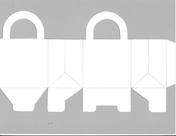 Template for a small box/bag. Helpful template for a simple carrying bag. To give me some idea on the way that bags are packaged and created. I looked at websites that do bag templates so I could print and make one. Start simple and develop on from there.