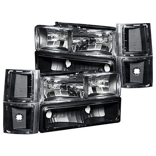 Anzo USA 111100 Chevrolet Crystal Black Headlight Assembly -