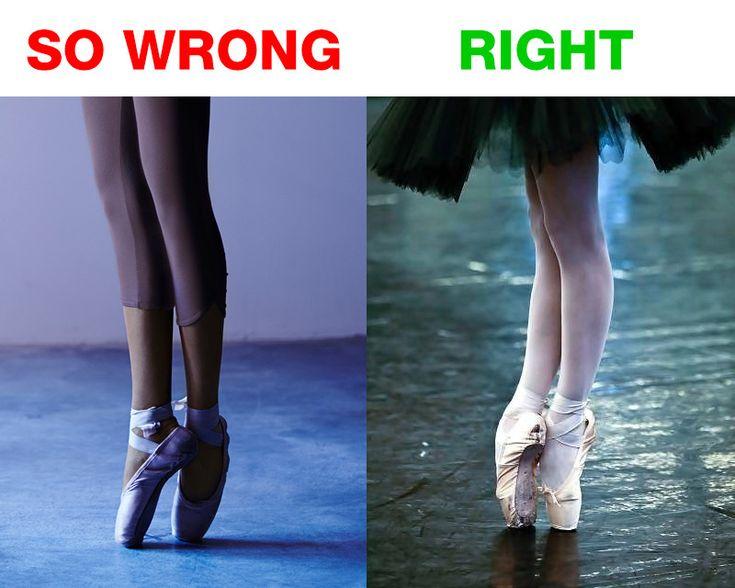 La me era apropiada de pararse en puntas, esto evitará que te lastima en ballet