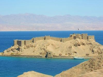 Pharaoh's Island - Taba, Egypt overlooks Jordan, Israel and Saudi Arabia.