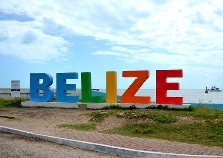 We love this colorful sign in Belize City! #belizecity #belize #beautifulbelize #travelphotos