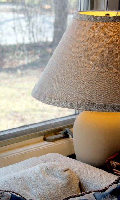 The 25 best covering lamp shades ideas on pinterest recover burlap covered lamp shade tutorial the cottage mama keyboard keysfo Gallery