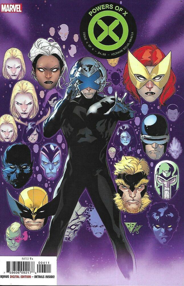 Powers Of X Comic Issue 4 Cover A First Print 2019 Jonathan Hickman R B Silva Marvel Comics Spiderman Comic Comic Books Art