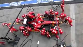 Ferrari F1 Pit Stop Perfection   Blink and you'll miss it