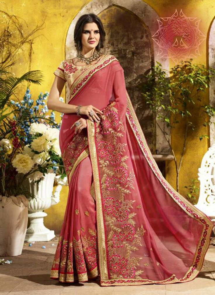 Sarees online shopping and check latest collection in silk sarees at india's best online shopping store. Buy this angelic faux georgette designer saree.