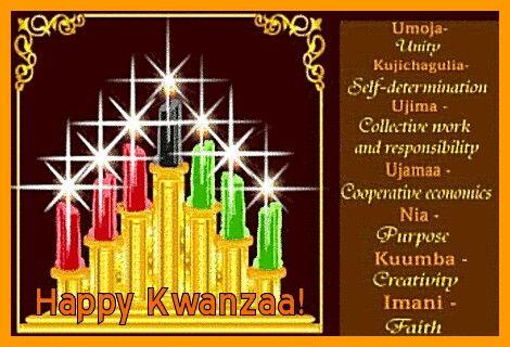 Happy Kwanzaa candles: