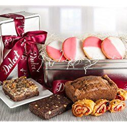 Valentines Day Natural Deluxe Tea Bread and Cookie Gift Basket