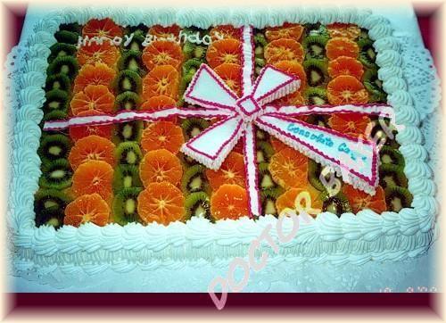 Торт одноярусный женщине