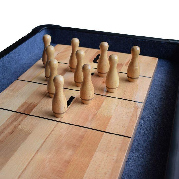 Solid Hardwood Shuffleboard Bowling Pin Set Bowling pins
